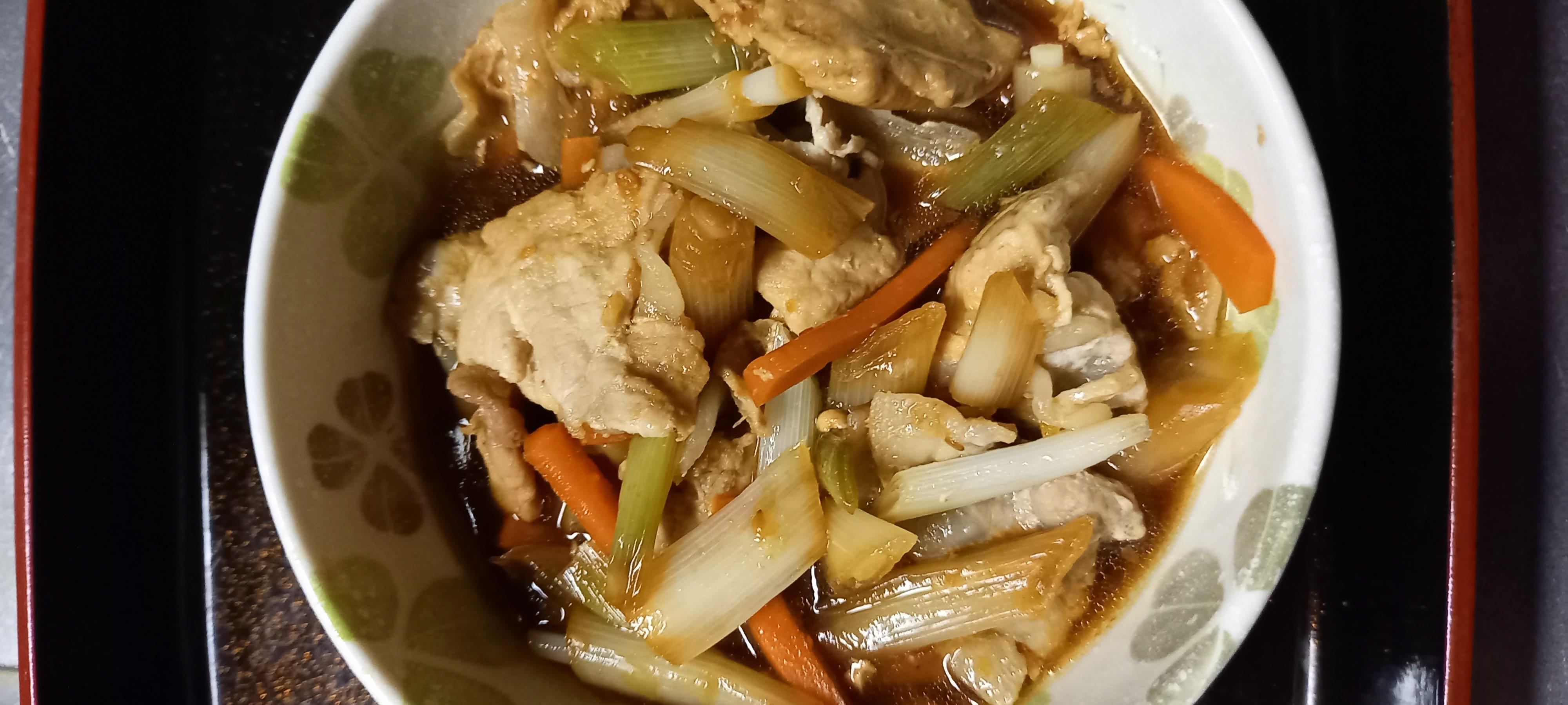 カラフル生姜焼き