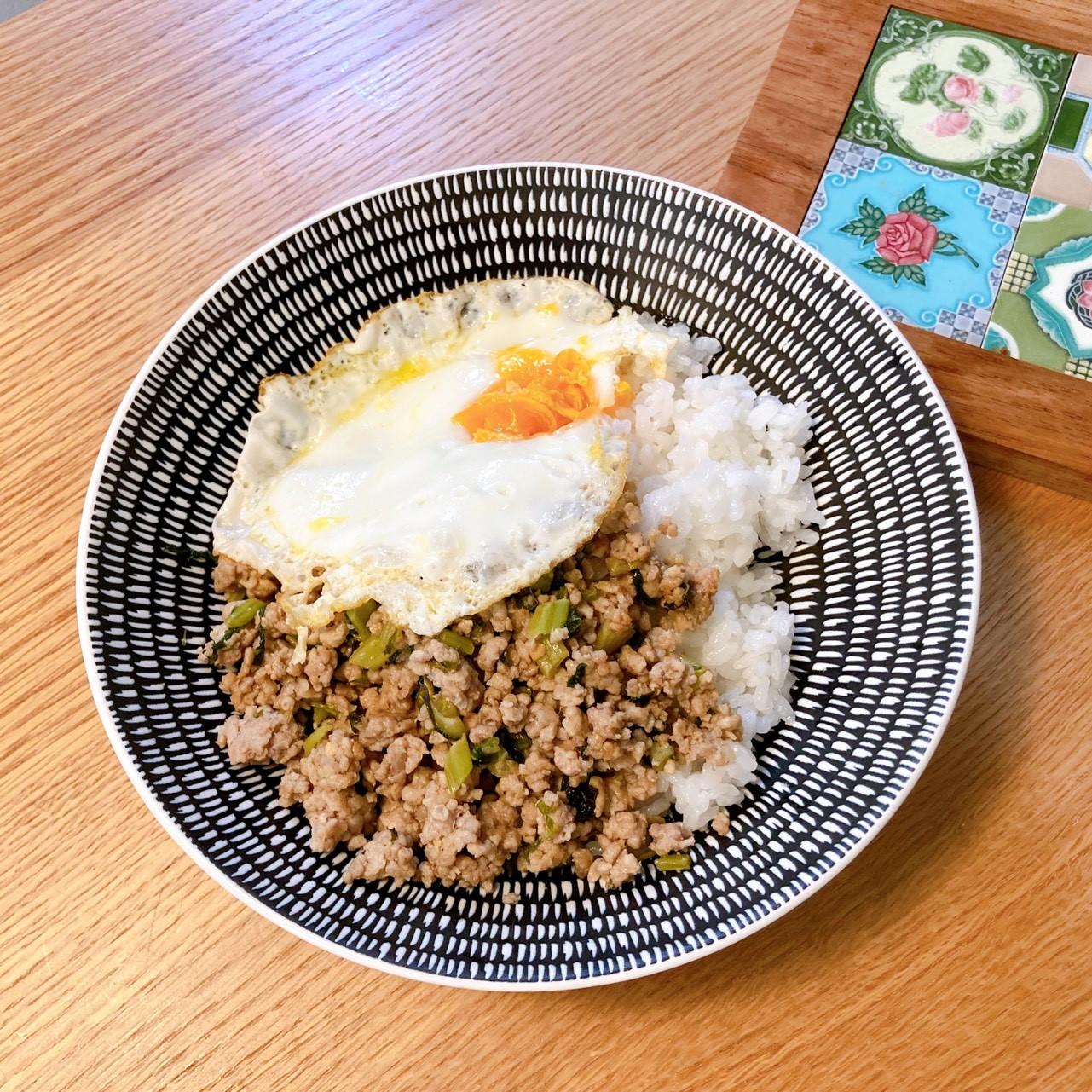 千葉県産大根と豚挽肉のスパイス味噌炒め