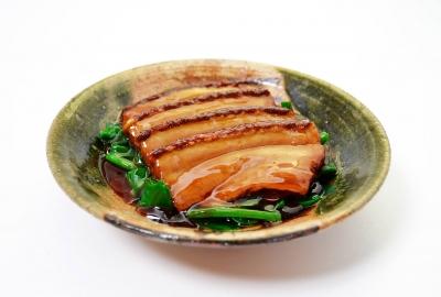 元気豚の煮豚定食